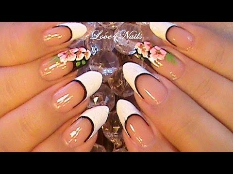 Nail Art Design for Almond Shape Nails - Nail Art Design For Almond Shape Nails - YouTube