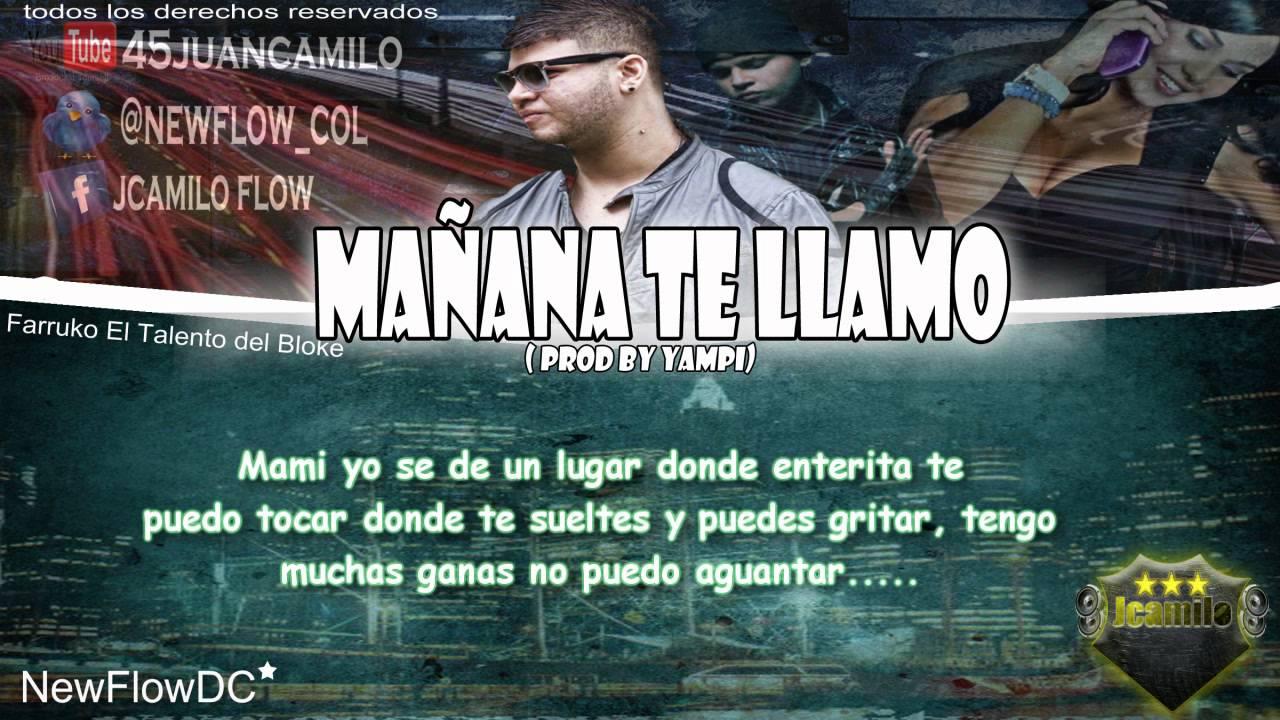 Farruko - Mañana Te Llamo con letra (Original) ☆REGGAETON 2011 ...