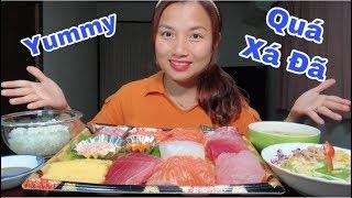 🇯🇵Ăn Mâm Sashimi Hải Sản 11 Loại Chấm Tương Wasashi Quá Xá Ngon - Quá Xá Đã#214