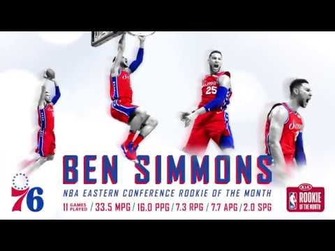 KIA Eastern Conference Rookie of the Month | Ben Simmons