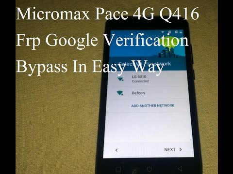 Miromax Canvas Pace 4G Q416 Frp lock bypass | Remove Google Account