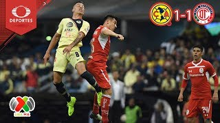 Resumen América 1 - 1 Toluca | Apertura 2018 - J15 | Televisa Deportes