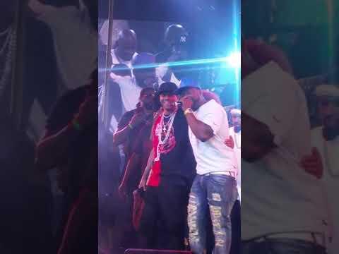 Meek Mills James Harden Allen Iverson 50 Cent live on stage Las Vegas drai's nightclub