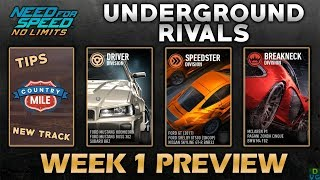 NFS: No Limits   Underground Rivals - Week 1 Preview (S1)