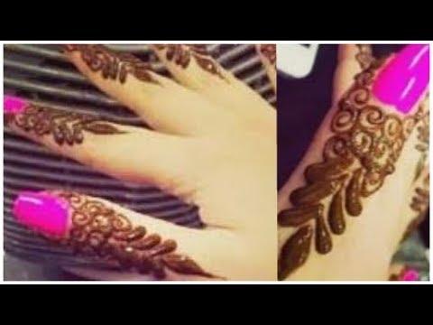 Mehndi For Thumb : Easy and stylish back finger tip mehndi designfinger