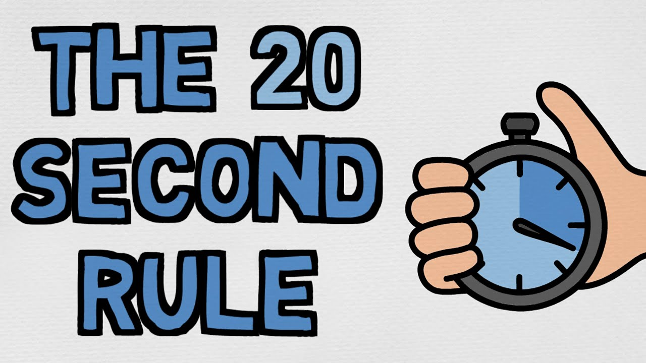 Use Laziness To Your Advantage - The 20 Second Rule