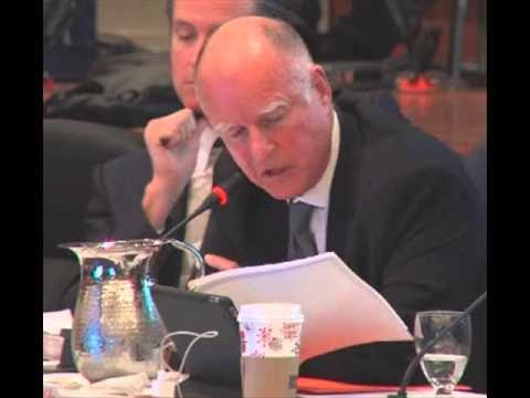 CA Gov. Jerry Brown at UC Regents Meeting Which Approved Tuition Hike He Opposed