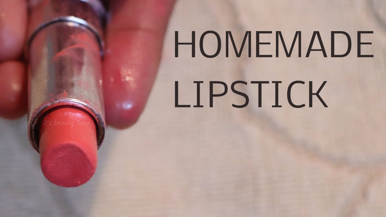 👄How to make 💋Natural Homemade Lipstick at home |DIY MATTE ...