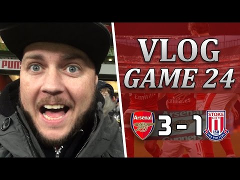 Arsenal 3 v 1 Stoke | Is This The Sign Of Champions | Matchday Vlog | Game 24