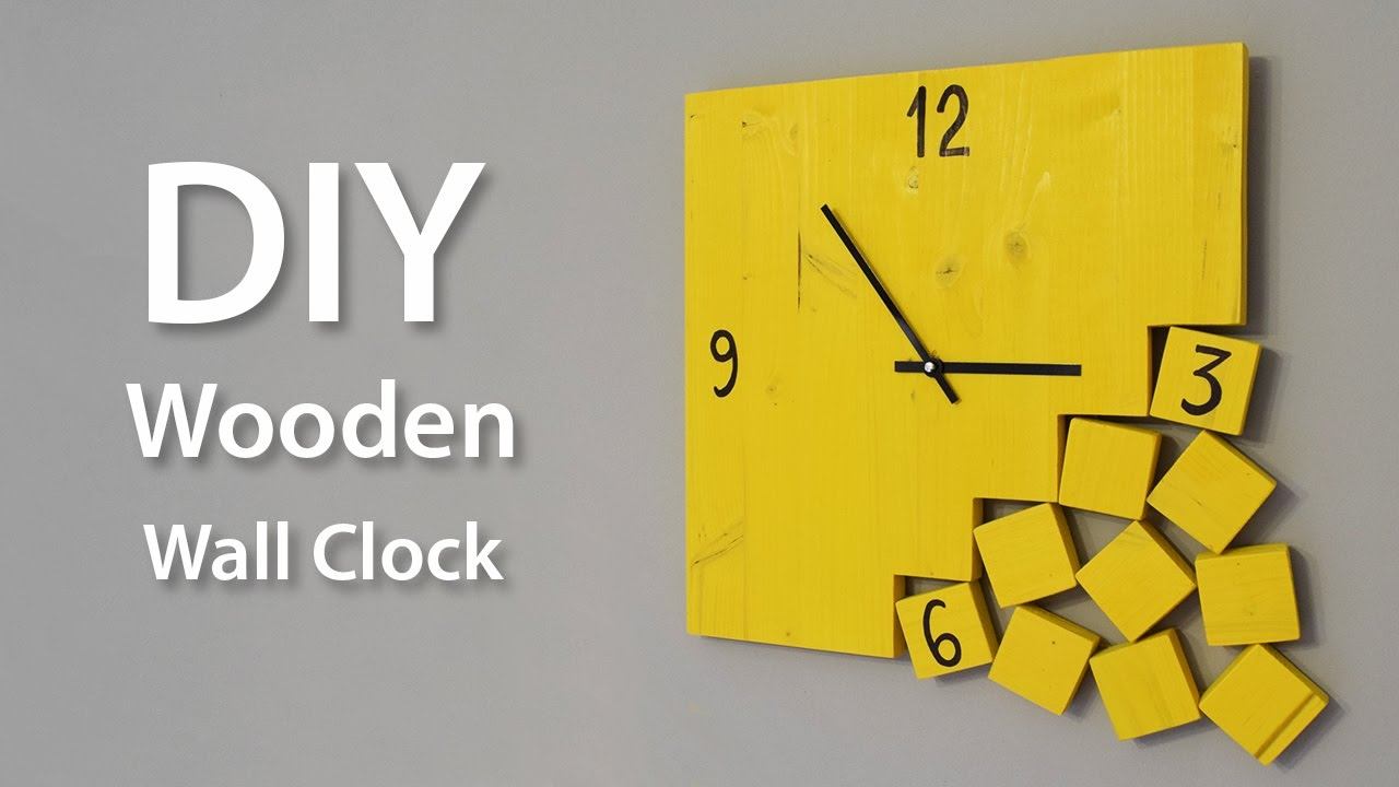 How To Make A Modern Wooden Clock Diy Project