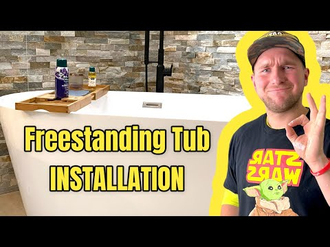 How to install a vessel Tub. How to install a freestanding tub.
