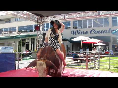 Lia Rides The Mechanical Bull