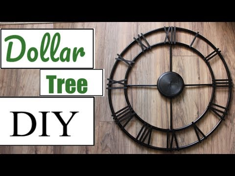 DOLLAR TREE DIY |FARMHOUSE FAUX WALL CLOCK |2018