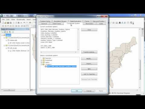 ArcGIS 10 - ArcMap - Projection and Coordinate Systems