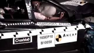 Crash Test 2008 - Ssangyong Actyon Sports (Frontal Offset) ANCAP