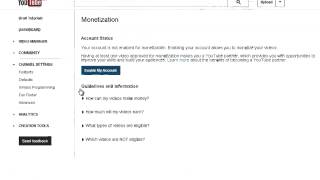 Video How To Enable Monetization In Your Youtube Channel To Earn Money 2014 (100% Working) download MP3, 3GP, MP4, WEBM, AVI, FLV September 2018