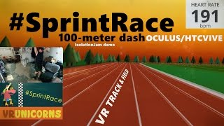 #SprintRace - 100-Meter Dash Track & Field VR WORKOUT + Heart Monitor