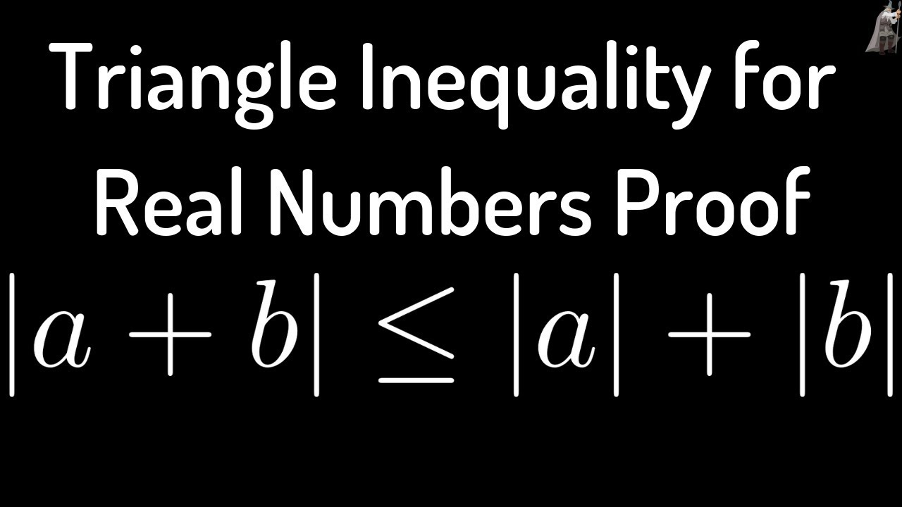 Triangle Inequality for Real Numbers Proof - YouTube