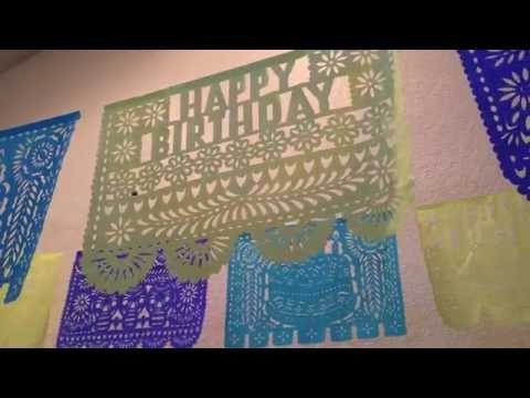 Happy Birthday Papel Picado Cut Paper Banners