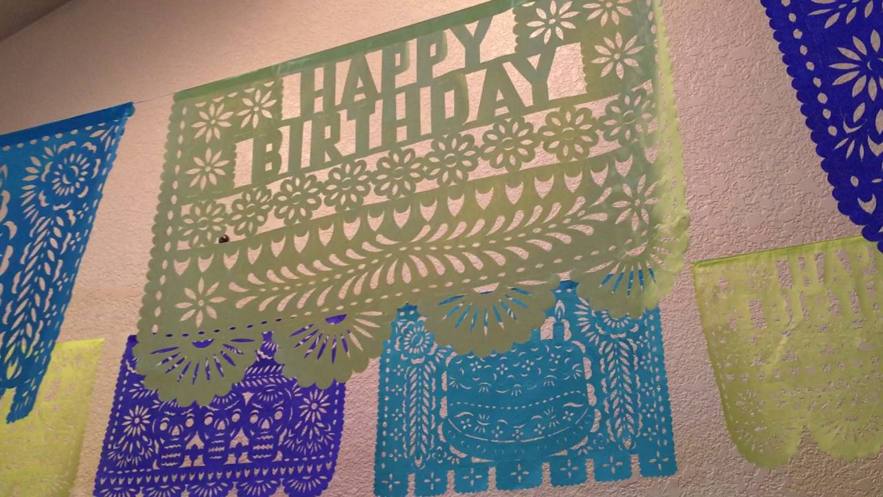 happy birthday papel picado cut paper banners