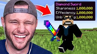 Beating MINECRAFT With LEVEL 1,000,000 ENCHANTS (FUNNY)