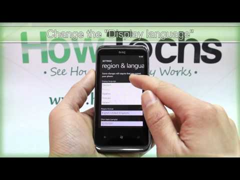 How to Change the Region and Language on HTC 7 Pro