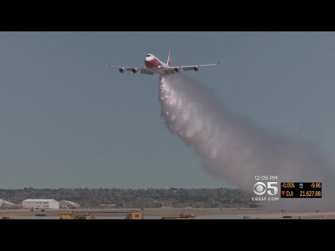 Despite Large Number Of Wildires In California, Supertanker Not Being Used By CalFire