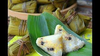 Zongzi, Authentic Sticky Rice Dumplings with Pork Belly (咸肉粽)