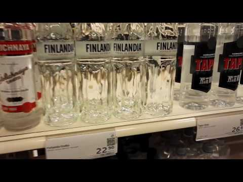 Сколько стоит  алкоголь в Финляндии. Алкоголизм по фински.