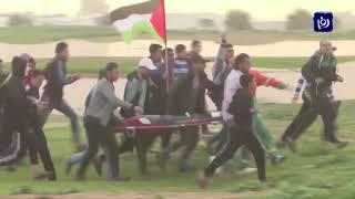 """الاحتلال يستهدف المشاركين في جمعة """"غزة عصية على الانفصال والانكسار"""" - (15-2-2019)"""