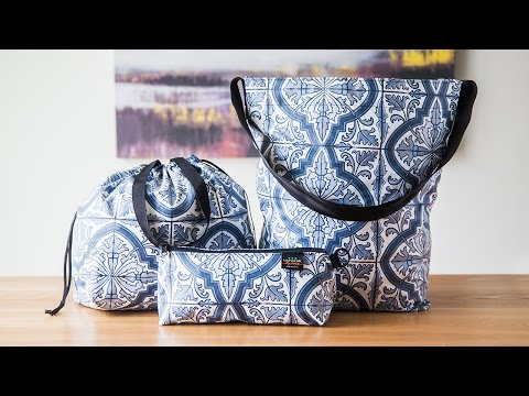 Tote-ally water repellant bags.