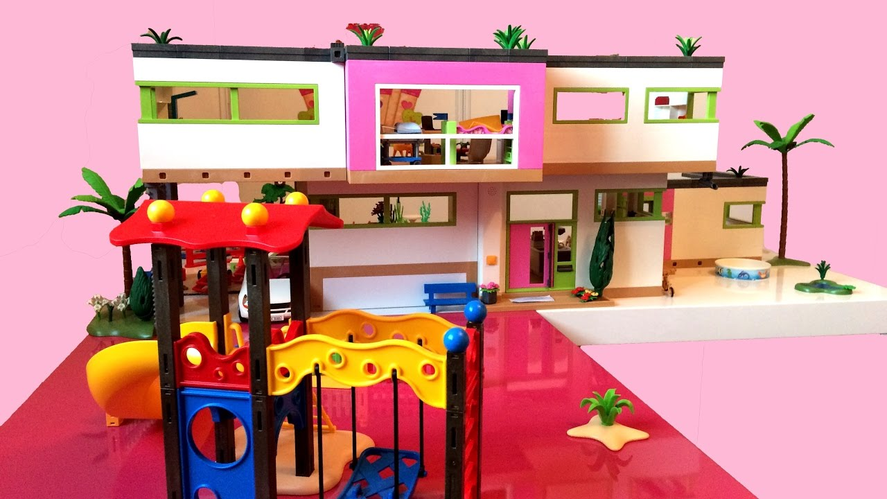 3 A Bigger Playmobil Modern House Youtube