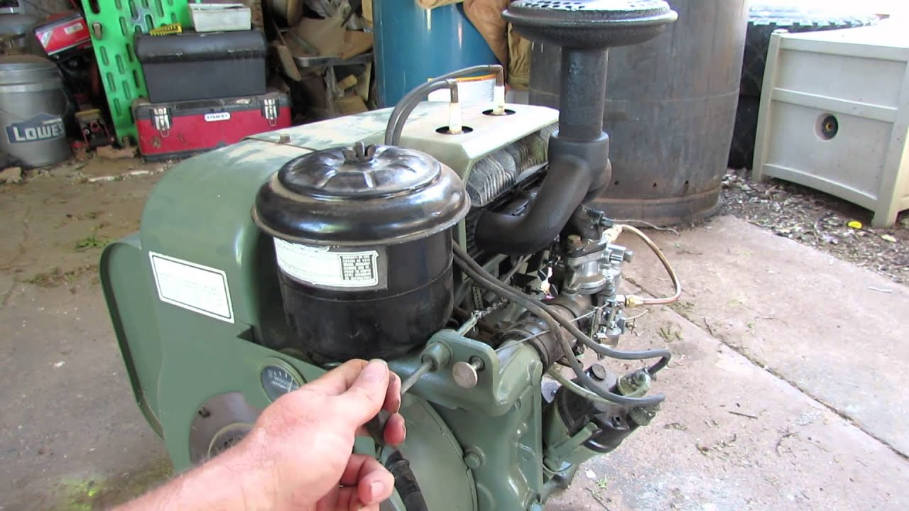 wisconsin tjd 18 2hp 2 cylinder air cooled youtube rh youtube com TJD Wisconsin Engine Parts 2 Cylinder Wisconsin Engine