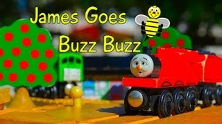 Thomas The Tank Engine & Friends JAMES GOES BUZZ BUZZ Story Set - Wooden Toy Train Review