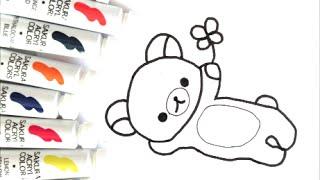 [人気キャラクター ] リラックマの描き方 how to draw  그림