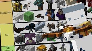 The BEST Minecraft Mob Tier List