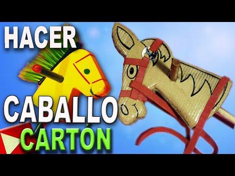 Como Hacer un Caballo de Carton con Cartón Reciclado - YouTube