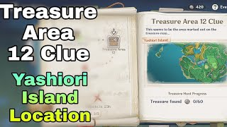 Learn how to get to the island, how to solve yashiori island puzzles, island quests, island enemies, island items, and other information in this inazuma guide! Genshin Impact Treasure Area 12 Clue Location Yashiori Island Lost Riches Event Youtube