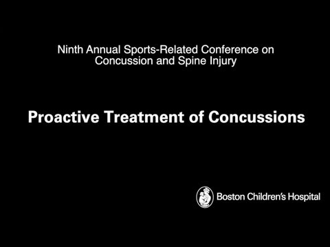 Proactive Treatment of Concussions - Boston Children's Hospital