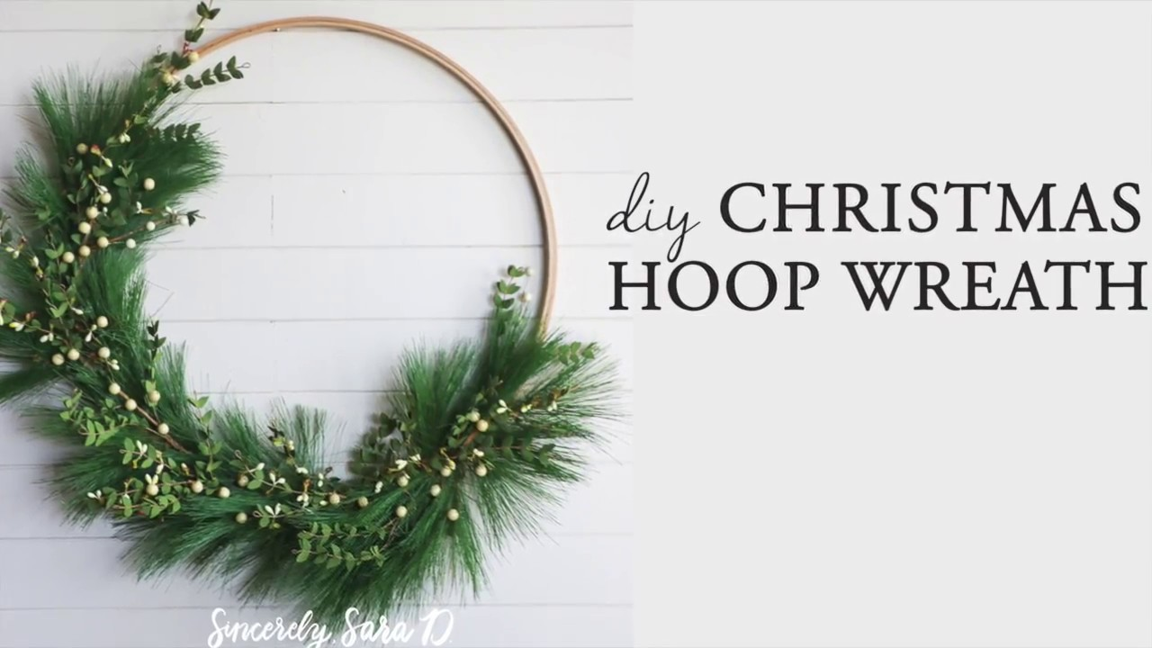 easy diy christmas wreath sponsored by hobby lobby - Hobby Lobby Christmas Wreaths