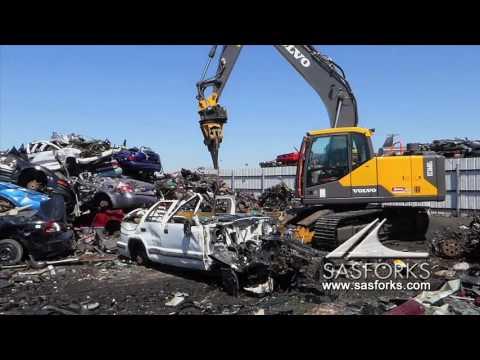 Destroy Car & Recycle with SAS Extreme Auto Processor Volvo EC160EL desmantelador de automóviles