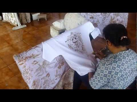 batik painting (balinese style art using wax on textile)