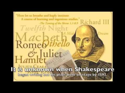 Shakespeare Biography - YouTube