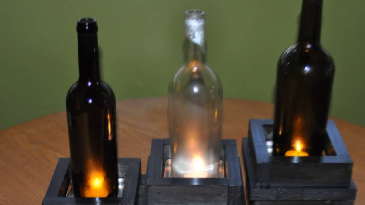 Wine bottle candle holders diy stuff by dks youtube for How to make candle holders out of wine bottles
