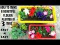 Make beautiful flower planter in 3 mins fast n easy mp3