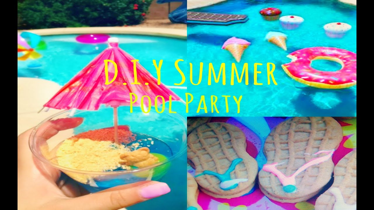 Summer Pool Party ♡ Treats Diy Photo Booth Amp Decor Youtube