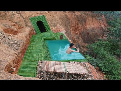 Amazing ! Dig To Build Undergroud House And Infinity Swimming Pool On The Cliff