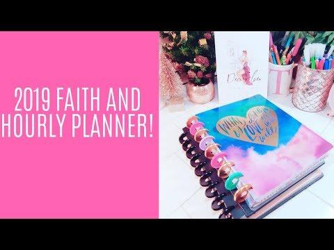 2019 Faith Planner (Beauty in Faith) & Hourly Planner (Watercolor Rainbow) Flip-through!