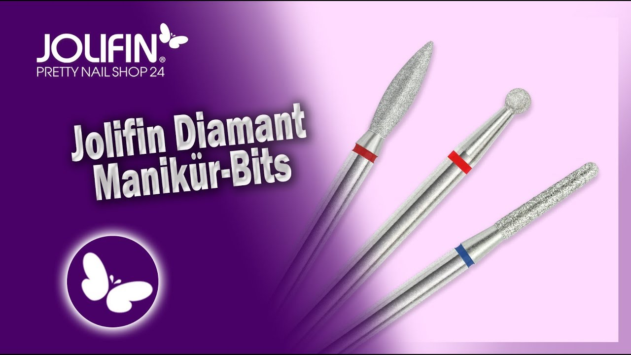 Jolifin Diamant Manikür-Bits - YouTube