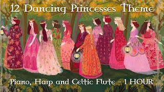 Download Mp3 Barbie 12 Dancing Princesses Theme // Piano, Harp And Celtic Flute Ver // 1 Hour
